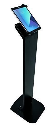 CTA Digital Premium Bloqueo Soporte de Piso Kiosk (Universal) (Pad-PARAFU) Cuello Plano. Universal Negro