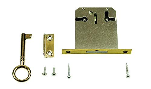 SN-TEC Einsteckschloss/Möbelschloss / Schrankschloss mit Zuhaltung 45mm Dornmaß rechts/links/oben verwendbar incl. Zubehör