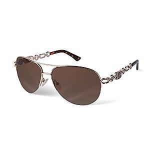 FONHCOO Gafas de sol de aviador para mujeres y hombres de gran tamaño marco de metal UV400 con espejo | DeHippies.com