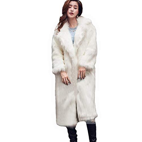 Dames bontmantel bontmantel nep bont jas lang warm winterjas unieke gezellige mode complex overgang mantel