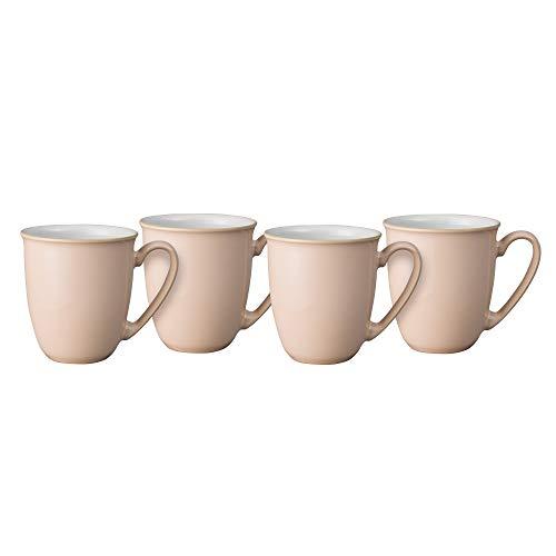 Denby Elements Shell Peach 4 Pc Coffee Beaker/Mug Set