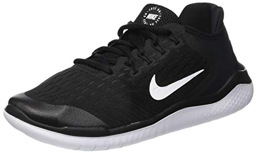 Nike Kid's Grade School Free RN 2018 Running Shoes, Black/White, 6.5 Big Kid