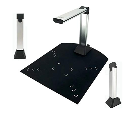 PureFlo Portable Document Camera! Scanning Cam Made Easy! Use with a Laptop/Desktop. Acts as a Webcam. USB Connected Web Camera for Teachers. Application is Installed with a Mini cd.