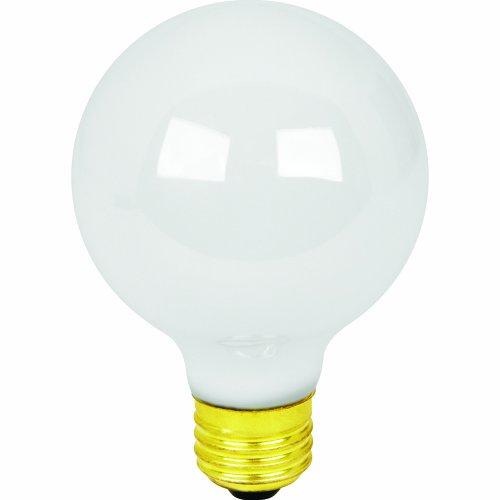 Feit Electric 40G25/W/MP-130 40-Watt G25 Bath and Vanity Globe, White, 6 Pack