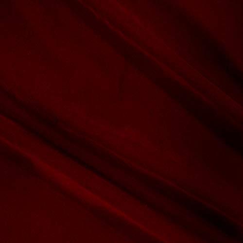 Ben Textiles Velvet Flocked Scuba Knit, Red Yard