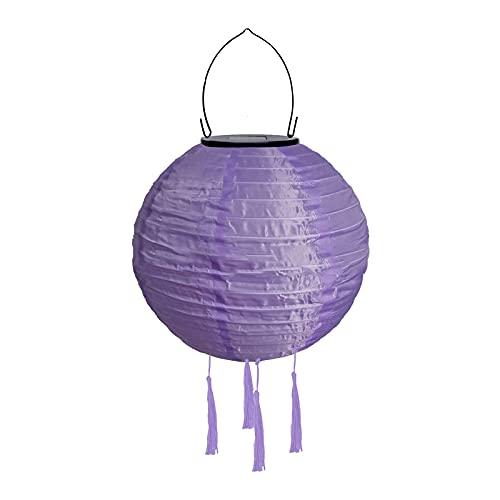 Orientalische Exotik Solarlaternen für den Außenbereich, 20,3 cm, wasserdichte Solar-LED-Gartenlaterne, leuchtende Lampe für Garten, Rasen, Party, Outdoor-Dekoration Gr. Einheitsgröße, violett
