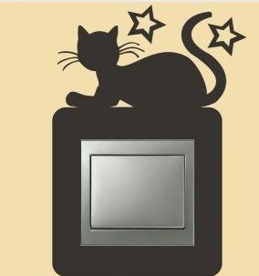 Interruptor de luz de gatos, adhesivo resistente a los rayos UV, pegatinas, para coche, pared, portátil, azulejos, baño, baño y todas las superficies lisas de alto rendimiento sin fondo,