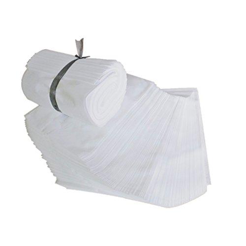 [Yullymerry] 不織布袋 100枚セット クロスパック ラッピング ギフト袋 収納袋 (白, 400×600mm)