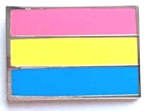 Pansexual Lgbt Pride Rechteckig Flagge Emaille Anstecker
