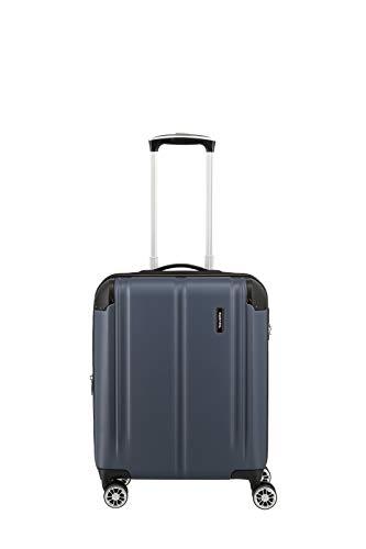 Travelite 4-Rad Handgepäck Koffer mit Dehnfalte erfüllt IATA Bordgepäckmaß, Gepäck Serie CITY: Robuster Hartschalen Trolley mit kratzfester Oberfläche, 073044-20, 55 cm, 40 Liter, marine (blau)