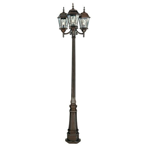 "Trans Globe Lighting 4719 BRZ Outdoor Villa Nueva 96"" Pole Light, Black Bronze - 2 Pack"