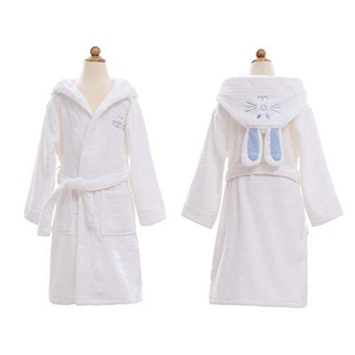 Einfache Kinder Jungen & Mädchen Bademantel, Baumwollhandtuch mit Kapuze, Bad, Schwimmen, Hausroben