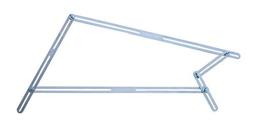 HEDO, T510, haakse sjabloon, 13aluminium-rails voor op maat gesneden trappen