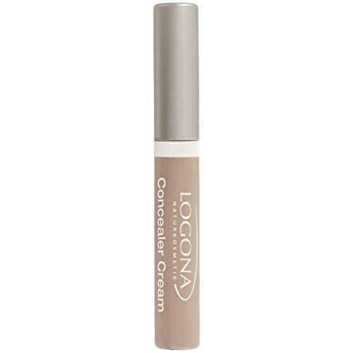 LOGONA Naturkosmetik Concealer Cream No. 02 Light Beige, Abdeckcreme, Mittlerer Hautton, Natural Make-up, mit Anti-Aging-Wirkung, Bio-Extrakte, Vegan, 5 ml
