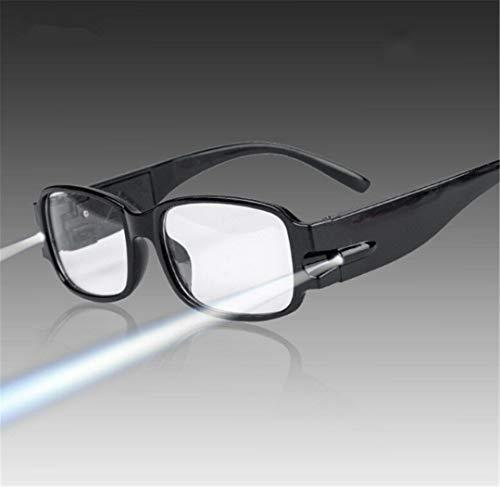Interestin Gafas de Lectura con Montura Unisex +3.5 Presbiópicas con dioptría de luz LED