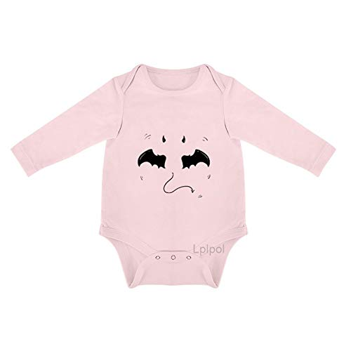 Lplpol Halloween murciélago dibujado a mano bebé algodón manga larga mono mono para bebé unisex niñas 0s8l5ft76b0g - rosa - 0-3 meses