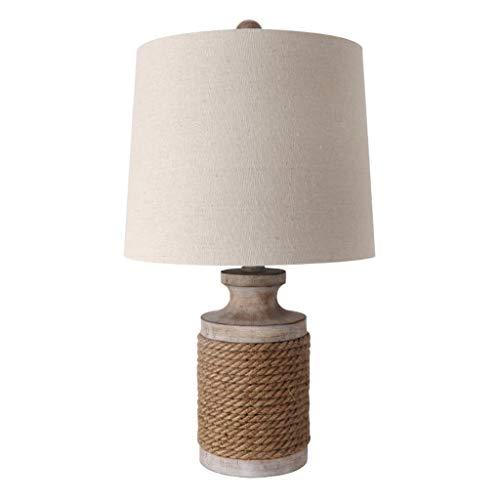 Lámpara de mesa Led Lámpara de mesa romántica creativa lámpara de cabecera Europea cáñamo bar Lámpara de mesa Sala Idílico retro de la lámpara decorativa (sin fuente de luz) Lámpara de noche Luz de No
