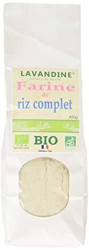 LAVANDINE Farine de Riz Complet Bio sans Gluten 400 g - BIO - Lot de 4