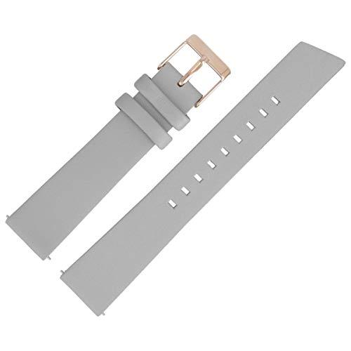 Liebeskind Berlin Uhrenarmband 18mm Leder Grau Glatt - 0234