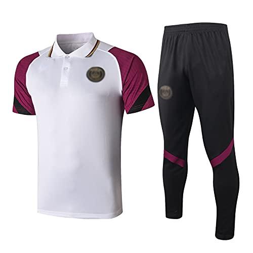 oein Camiseta de París Sportswear, Club de Fútbol Europeo para hombre, primavera y otoño, transpirable, uniforme de entrenamiento deportivo (color: blanco, tamaño: XL)