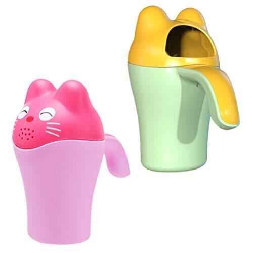 HEALLILY 2 Stück Babywanne Spülbecher Baby Shampoo Spüler Haarwaschbecher Kopf Wasser Schaufel
