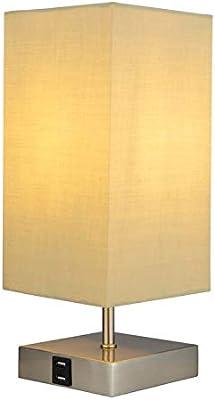 Lampe De Table Téléphone Usb Chargeant La Tête De Dortoir De Lampe De Table De Tissu Tactile Quatre Petite Lampe De Table B