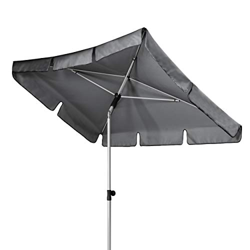 Doppler Active – Rechteckiger Sonnenschirm für Balkon und Terrasse – Knickbar – 180x120 cm – Anthrazit