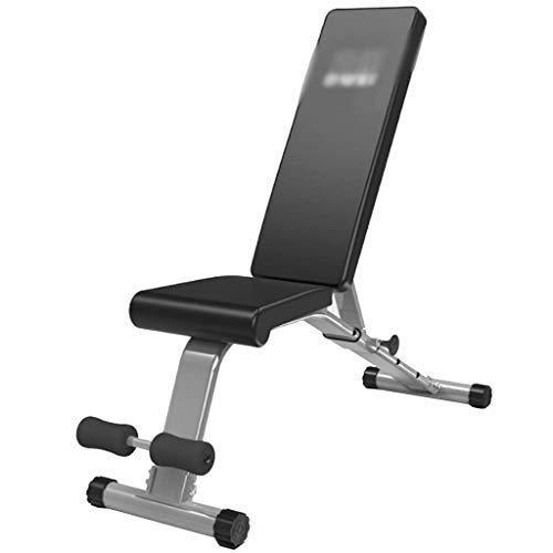 AGWa Sit-Up-Brett für den Hausgebrauch Einstellbare Hantel Bank Fitnessgeräte Männer und Frauen Bauch-Übung Fitness-Stuhl,Schwarz,113 * 40 * 48cm
