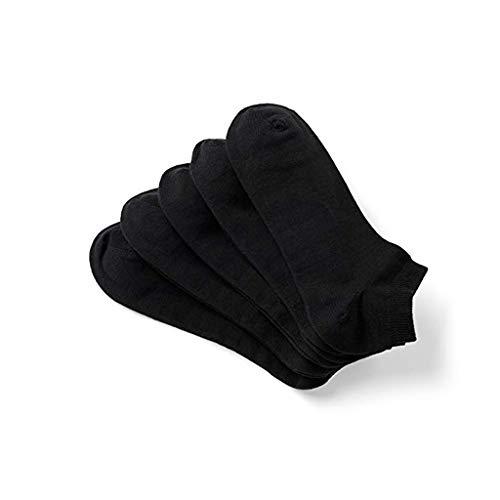 YSFWL 10 Paar SportstrüMpfe FüR Erwachsene Bambus Socken Herren & Damen, Atmungsaktiv Baumwollsocken Optimaler Feuchtigkeitstransport, Business Freizeit Sportsocken Einfarbiger Baumwolle