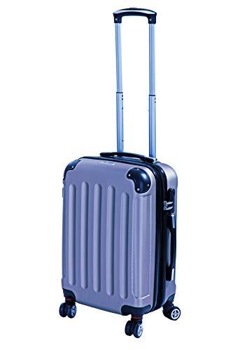 Glüückskind 3tlg. Kofferset Reisekoffer Trolley Koffer Set aus ABS mit TSA Schloss Einzeln oder im Set (Eisblau, M/Bordcase)