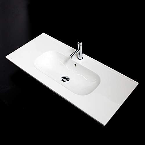 Vanity top porcelain Bathroom Sink with 1 overflow 18 40