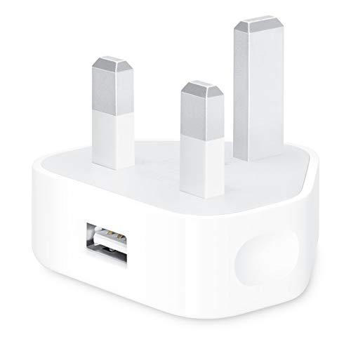 KamKorda USB Charger Plug/USB Charger Adapter UK 1Amp/1000mAh for Apple iPhone/iPad/Samsung