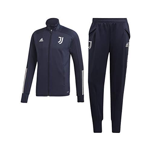 adidas Juventus Tuta Allenamento Panchina Blu 2020/21 - Uomo - 100% Originale - 100% Prodotto Ufficiale - S, Blu