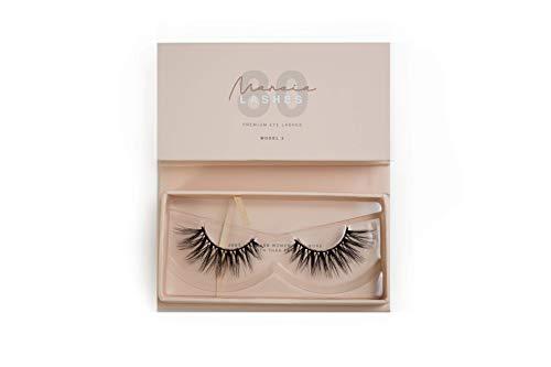 MARCIA Beauty Lashes 80 (Model 2) wiederverwendbare künstliche 3D Fake Falsche Premium Wimpern, 1 Paar, Designed by Marci…