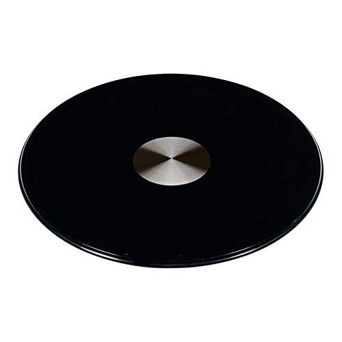 F-XW Negro Plato Giratoria, Grande, Placa Giratorio de Vidrio, Completamente Ensamblado, para Mesa de Comedor, Encimera de Cocina, Diametro 70/80/90/100/110/120 cm
