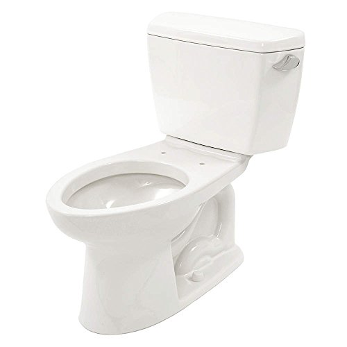 TOTO CST744ELRB#01 Cst744Elrbno.01 Eco Drake Toilet-1.28-Gpf-Ada With Right Hand Trip Lever And Boltdown Tank Lid, Cotton