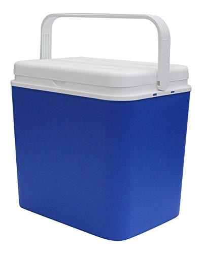 Enfriador Caja Aislado Nevera Congelador Caja & Pequeño Enfriador Cajas 8 Hora Aislante Picnic Caja - Azul, 30 Litre