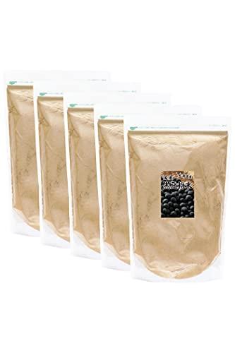 自然健康社 黒豆粉末 1kg×5個 きな粉 きなこ 国産 無添加 業務用 黒大豆 パウダー チャック付き袋入り