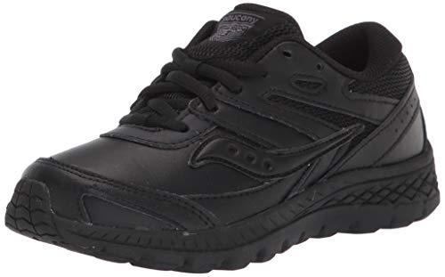 Saucony unisex child Cohesion 13 Ltt Sneaker, Black/Black, 10 X-Wide Big Kid US