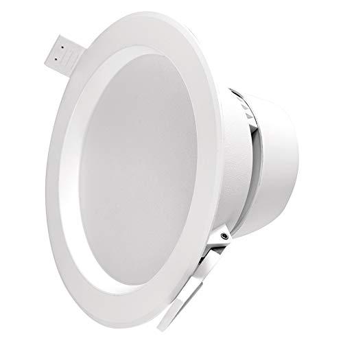 EMOS Foco LED empotrable de 9 W, Redondo, 900 LM, Equivalente a 70 W, Blanco Neutro 4000 K, para Oficina, Pasillo, salón, sin parpadeos
