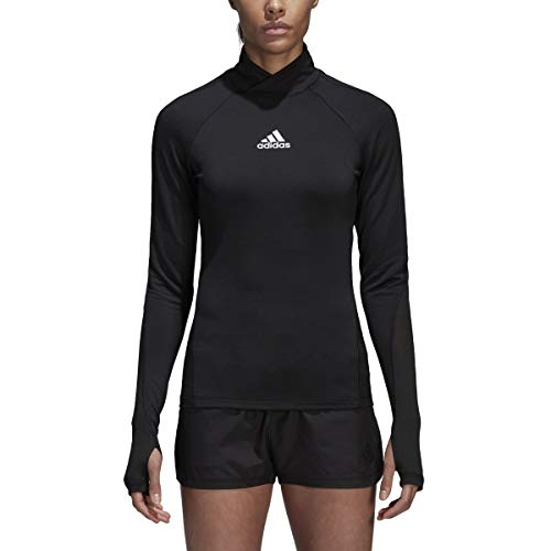 adidas Women's Soccer Alphaskin Sport Long sleeve Climawarm Top, Black, Medium