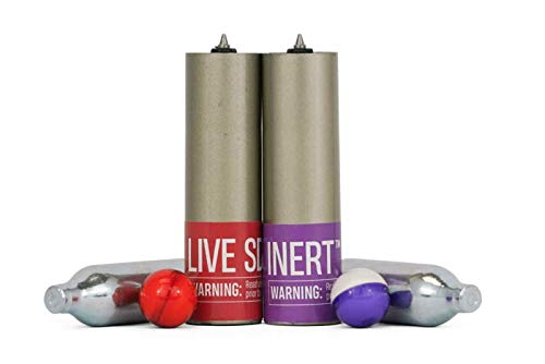 PepperBall Live & Inert Refill Kit for Compact Launcher Includes Pre-Loaded Barrels and N2 Cartridges