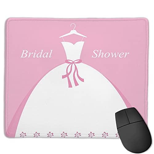 Mauspad,Feier Brautparty Hochzeitskleid mit Schatten, Anti-Rutsch-Gummibasis Gaming Mouse Pad Mat Desk Decor 9.5