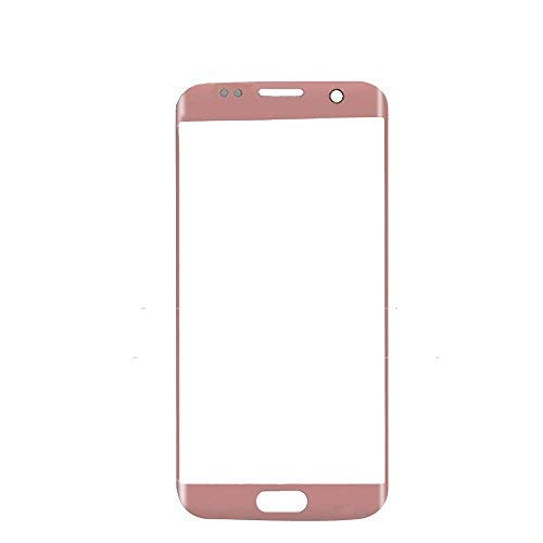 UU FIX Display Glas Front für Ersatz Samsung Galaxy S7 Edge (Roségold) LCD Touch Screen Front Glas mit Werkzeugsatz(Keine Berührung und LCD).