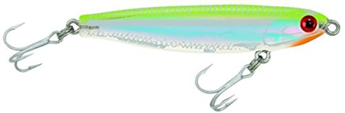Mirrolure Mirrominnow Suspending Twitchbait, Chartreuse Back/Pearl Belly, 3-1/4-Inch