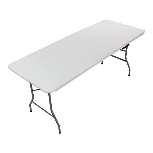UNU_YAN Home Folding Table Heavy Duty Extra Strength Camping Buffet Wedding Market Camping Trestle Picnic Garden Patio Bbq Party Table