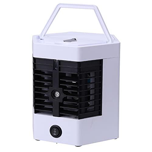 Ventola del condizionatore d'aria, mini raffreddatore d'aria portatile Umidificatore multifunzione USB per l'home office Raffreddamento silenzioso Piccolo condizionatore d'aria ( Color : White )