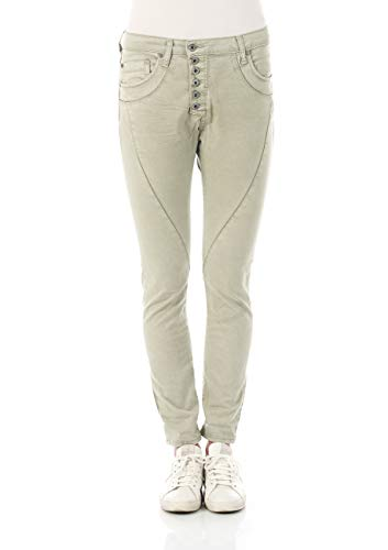 Please Damen Jeans P44M - LAVPS596TINTO - Boyfriend - Grün - Eucalyptus XXS XS S M L XL 98% Baumwolle Stretchjeans Damenjeans, Größe:XS, Farbvariante:Eucalyptus (3762)