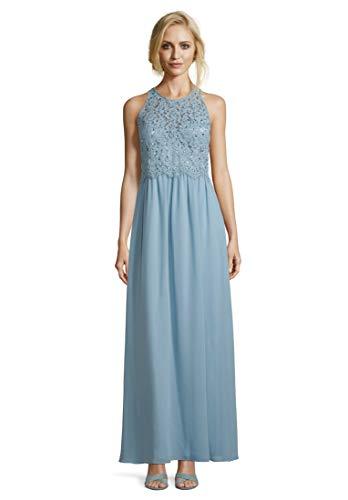 Vera Mont Damen 8079/4000 Partykleid, Blau (Aqua Blue 8391), (Herstellergröße: 36)