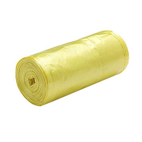 Double Nice Müllsack groß 1 Rolls 50 x 46 cm Müllsäcke Einzelne Farbe Dicke Bequeme Umweltkunststoff Müll Taschen Einweg Plastiktüte Gelb müllsack schwarz (Color : Yellow)